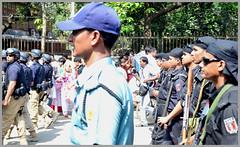 SWAT - POLICE - RAB --- Securing the event Mongol Shovajatra (Nazmul Hossain [ON/OFF]) Tags: life new color nikon university year culture celebration program dhaka 2012 rythm bengali pohela 1419 boishakh nazmul romna charukola   botomul d3100 hossian nazmulbd 01717552939