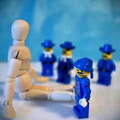 BAD BOYS in BLUE (moksimil) Tags: blue mannequin closeup toys lego woody blau dummy spielzeug badboys gliederpuppe jointeddoll macromondays legofiguren moksimil