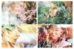 human nature (f'thang) Tags: light portrait plant flower nature happy cheery faces smiles overlay series laughter humannature