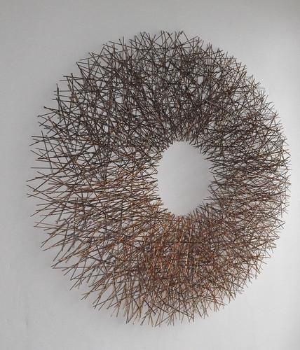 Cirkelvormige draadstructuur cirkel kunst