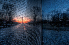 Vietnam Memorial V [Explore] (It's my whole damn raison d'etre) Tags: morning alex wall sunrise dawn dc washington nikon memorial day vietnam hdr veterans d300s thechallengefactory ringexcellence dblringexcellence erkiletian