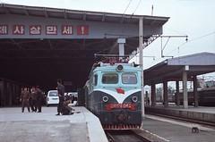 Pyongyang station (Frhtau) Tags: china city people station electric train main north beijing korea locomotive passenger pyongyang dprk plattform