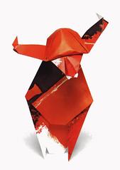 Origami création - Didier Boursin - Taureau