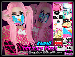 Beauty Killer - Infirmary Mask - Kawaii (KEVINN Draconia (Beauty Killer)) Tags: fashion punk emo scene sl secondlife virtual beautykiller kevinndraconia
