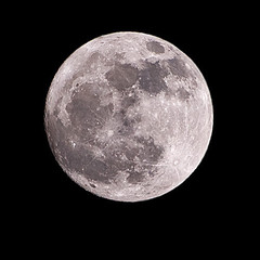 Night Sky Satellite (Richard Amor Allan) Tags: sky moon night lune satellite crater lunar orbit