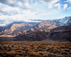 Inyo Mountain Morning (4 Corners Photo) Tags: california winter shadow sky snow mountains fog clouds landscape unitedstates desert northamerica geology mojavedesert owensvalley greatbasin inyomountains inyocounty canoneos50d inyomountainswilderness faultblock newyorkbutte