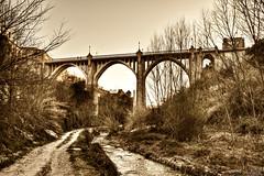 Puente Santa Maria (Enrique Gandia) Tags: old bridge white black valencia rio sepia canon river puente flickr santamaria viejo antiguo ontinyent 500d clariano canonistas enriquegandia