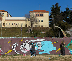 bastardo bunny - comyk & dr homes (dug_da_bug) Tags: madrid graffiti spain comic vv vandalvoyeur drhomes comyk bastardobunny