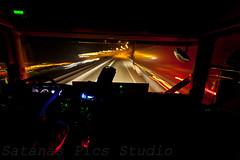 On the road by night.4 (Nirogan) Tags: road street detail art night truck canon dark nice fantastic photographie angle magic lumiere mysterious ligth 5d nuit 1740 scania fil sps 17mm grandangle poselongue spstudio satanaspicsstudio nirogan bynirogan