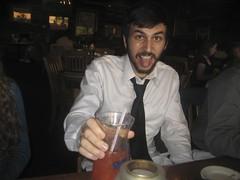 luke drinking his hurricane