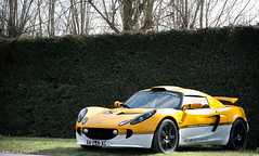 Lotus Exige Sprint (BenjiAuto (Ratet B. Photographie)) Tags: show road trees france cars cup sport yellow nikon lotus elise gear exotic british autos 1855 collin sprint luxury supercar amboise supercars chapman exige 55200 touraine rassemblement d3000 ratet worldcars hypercars