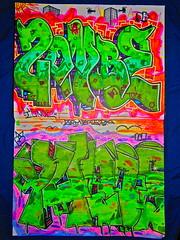 ZombeDK YunoeUPN (Coyotecat6) Tags: family art dead known graffiti los king die angeles body zombie graf oatmeal dk brains graff jacks oats bodyart zombe dkf jaxoe dieknown