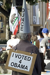 Recovering Obama Voter (Abel AP) Tags: california people hat sign downtown political politics rally protest sanjose event freedomofspeech teaparty dunce sanjoseca taxday plazadecesarchavez americanculture april15th obamavoter votedforobama teapartypatriots teapartymovement