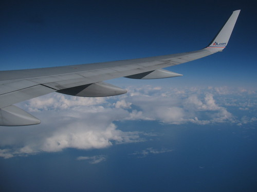 Flying over North Atlantic