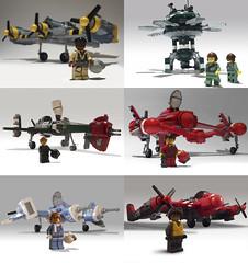 New Planes (JonHall18) Tags: plane fighter lego moc skyfi dieselpunk