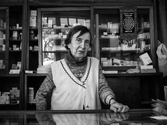 92 year-old pharmacist, Balat - Istanbul (adde adesokan) Tags: turkey europe olympus istanbul trkei m43 mft mirrorless microfourthirds mirrorlesscamera