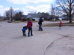 Roller Skating Cousins Video (Jaimee and Brian) Tags: austin paul video illinois emily brian sage avery avalon 27months sevenyears fouryears