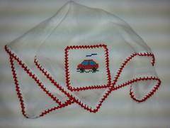 Fralda de Boca - Carrinho F016 (SaluArts) Tags: de pano cruz infantil bebê boca ponto paninho fralda fraldinha enxoval