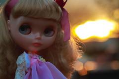 My Margo at sunset <3