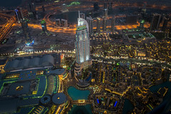 Top of Dubai (5AAAAM) Tags: city art night buildings landscapes high nikon dubai cityscape top 28mm uae cityscapes emirates khalifa arab uni em unitedarabemirates scapes ua burj nightscapes kha d600 nikond600 burjkhalifa