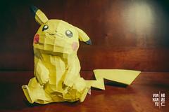 Pikachu Pepakura (Vonatzki) Tags: craft achievement pokemon hardwork pepakura