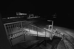 DSC_7520 (RHMImages) Tags: blackandwhite bw monochrome night stairs nikon bart exit pleasanton d600