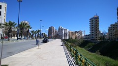 الكورنيش Latakia (nesreensahi) Tags: street city blue sky sun cars nature landscape corniche syria siria سوريا syrie latakia اللاذقية سورية