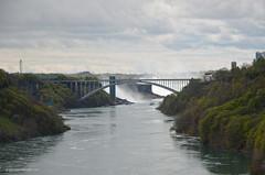 Rainbow Bridge and Falls (gregador) Tags: niagarafalls gorge rainbowbridge horseshoefalls americanfalls niagarariver