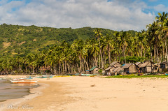 Nacpan-15.jpg (derkderkall) Tags: ocean beach boats sand paradise village philippines huts palmtrees tropical whitesand shacks elnido palawan tropicalbeach nacpan nacpanbeach
