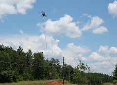 Power Line Maintenance (Chris Usrey) Tags: flying cool dangerous power aviation line helicopter maintenance exciting httpwwwrotorbladecom