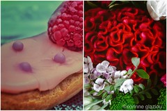 Avec plaisir (corinne glaziou) Tags: pink flowers red food cake sensations association ptisserie diptique
