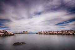 Castel dell'Ovo...Napoli (Minieri Nicola) Tags: castle beach beautiful landscape nuvole mare cielo napoli rocce castello paesaggio lunga esposizione longexposition