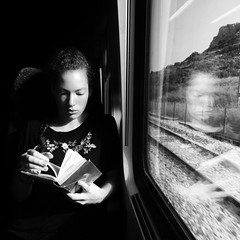 The Portraitist - 2016 EyeEm Awards Portrait Black And White Mydtrainmoments Mytrainmoments Portrait Of A Woman Train Black & White Black And White Photography Mobile Phonography  IPhoneography IPhone Mobile Photography Mobilephotography Eye4photography (dinalfs) Tags: light portrait blackandwhite window mobile train blackwhite blackandwhitephotography iphone eye4photography phonography portraitofawoman mobilephotography iphoneography mytrainmoments mydtrainmoments theportraitist2016eyeemawards