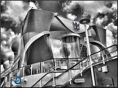 Anthem of the Seas (Retired....with camera!) Tags: cruise blackandwhite eos cruising cruiseship selectivecolor selectivecolour 70d efex 18135mmstm pspx8 paintshopprox8