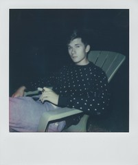 (Noah Trevio) Tags: summer portrait film night polaroid midwest indiana cigar polaroid600 impossibleproject