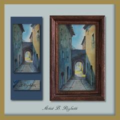 B. Righetti _ European Artist #4 (sylvialee11) Tags: bridge b art private landscape tunnel collection villa righetti