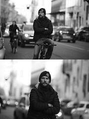 [La Mia Citt][Pedala] senza mani (Urca) Tags: portrait blackandwhite bw bike bicycle italia milano bn ciclista biancoenero mir bicicletta 2016 pedalare dittico nikondigitale ritrattostradale 85592
