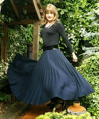 After Shopping (Amber :-)) Tags: long navy skirt crossdressing tgirl transvestite sunray pleated