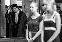 Valentijn's Defence (Willers1404) Tags: city holland netherlands smiling happy hall university crowd graduation celebration event mathematics phd occasion viva maths defence universitat examination valentijn