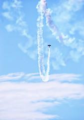Put It In Writing (Caroline.32) Tags: airplane sky blue bluesky skywriter nikond3200 55300mmlens hiking glacialconservationpark slidersunday