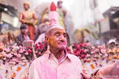 Holi has no age (Jakob Kolar) Tags: street travel pink portrait india men water colors face festival asia colours religion celebration hindu indien oldmen colorfestival mathura holifestival uttarpradesh festivalofcolours coloredface