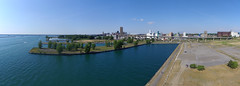 20160625_170634_stitch (N. Stalsomething) Tags: urban panorama lake water skyline harbor buffalo erie outer drone canalside canalsidebuffalo