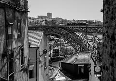 Stone and Steel (Javiralv) Tags: bridge portugal stone river puente steel porto oporto piedra acero