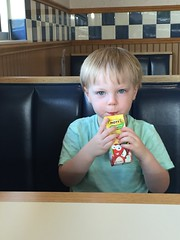 "Paul Drinks Apple Juice at Culver's • <a style=""font-size:0.8em;"" href=""http://www.flickr.com/photos/109120354@N07/27856458575/"" target=""_blank"">View on Flickr</a>"