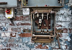 Len's Socket... (DawnWarrior) Tags: abandoned broken three rust peeling paint factory power box decay urbanexploration plug phase derelict fuse socket urbex dawnwarrior