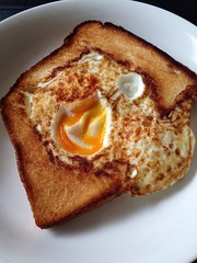 Egg in toast (Airkin) Tags: japan egg toast yummy delicious tasty breakfast