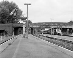 Banbury North (DH73.) Tags: banbury north semaphore signals gwr western region resignalling network rail cross country 1v87 newcastle oxford mamiya c220 80mm mamiyasekor lens ilford hp5 tetenal paranol s