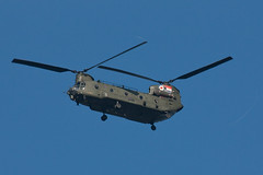 Chinook (Treflyn) Tags: uk force anniversary air united low royal kingdom helicopter flies 30th boeing chinook markings oxfordshire av raf hc2 cholsey za714