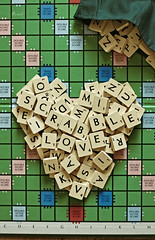 I  Scrabble (.OhSoBoHo) Tags: game love canon 50mm heart scrabble boardgame  wordgame canoneos40d 50daysof50mm scrabblelove ourdailychallenge februarysalphabetfun2012