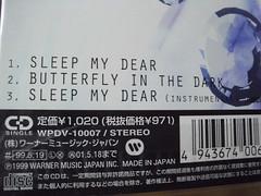 全新 原裝絕版 1999年  5月19日 今井美樹  Miki Imai NTV系の土曜ドラマ『蘇える金狼』の主題歌 SLEEP MY DEAR CD 原價 1020yen 4